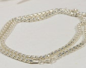 "Sterling Silver 18"" Italian Sterling Silver Rounded Box Chain Silver Jewelry Supplies"