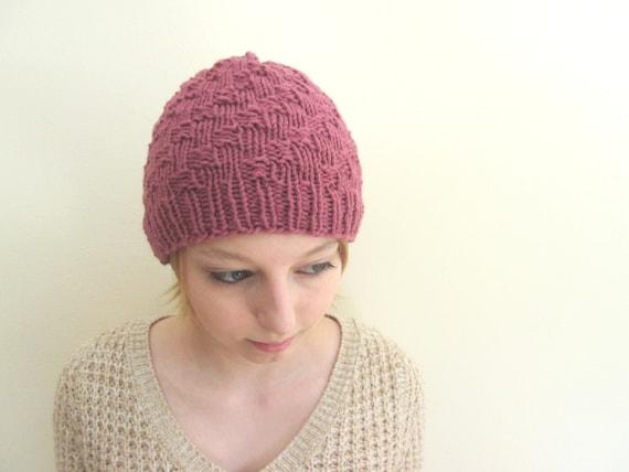 Women s Beanie Knitting Pattern : Womens Hat Knitting Pattern Easy Beanie Knitting Pattern