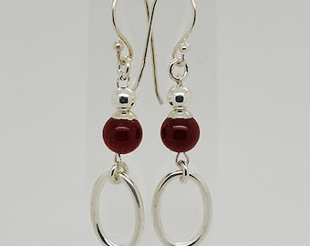 Garnet Hook Earrings 25
