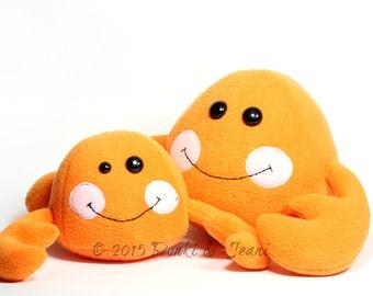 Kawaii Cute Crab Plush Toy, Crab Soft Toy, Crab Stuffed Toy, Handmade Crabby Crab