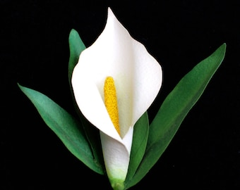 White Calla Lily Pin
