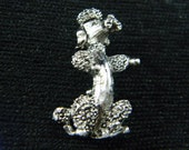 Gerry's silver tone poodle brooch