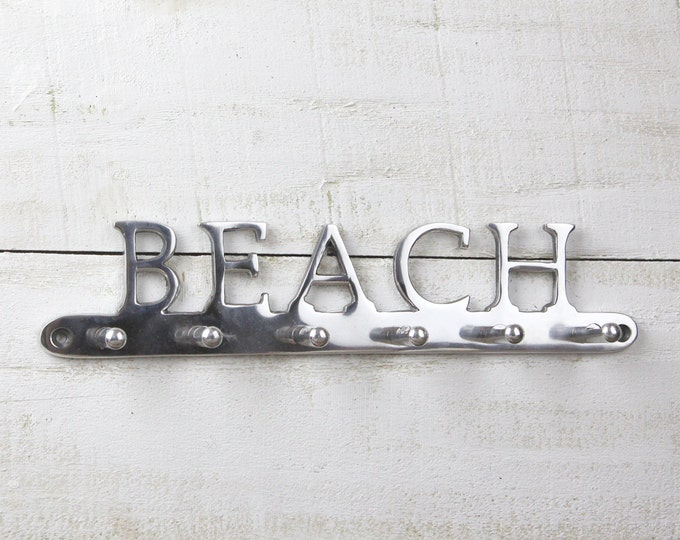 BEACH Sign Hanger Beach Decor by SEASTYLE