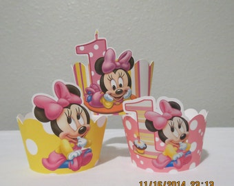 Baby Mickey & Baby Minnie Cupcake Wrappers