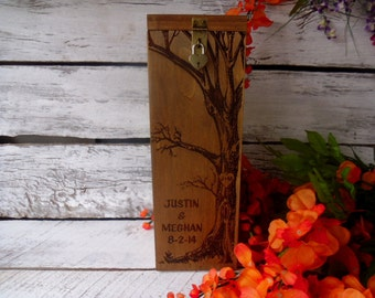 Wine Box, Wedding Wine Box, Wedding Gift, Anniversary GIft, Rustic Wine Box, Custom Wine Box, Personalized Wine Box