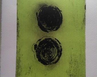 Leeks II-waterless lithograph