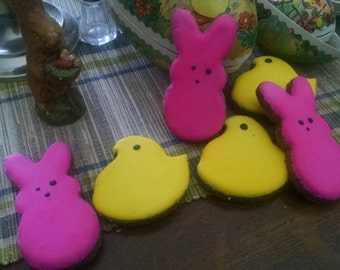 Peeps bunnies and chicks Spring Dog Treats Easter Eggs