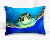 Sea Turtle | Decorative Pillow | Throw Pillows | Surf Art | Sea Turtle Art | Beach Decor | Ocean Art | Coastal Pillows | Beach Pillows