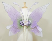 Lilac fairy wings halloween costume accessory
