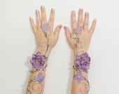 Silver and lavender fairy arm cuffs