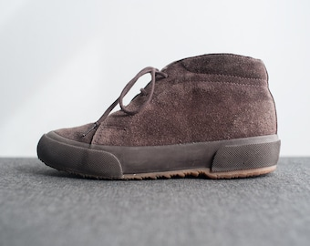 Vintage Petite Womens Brown Suede Superga Lace Up High Top Sneakers Kids Size 2.5