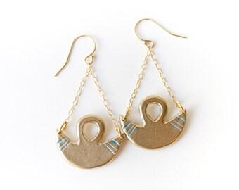 Brass Crescent Moon Earrings | Equilibrium Earrings