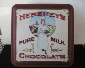Collectible Hershey Girl Hershey's Chocolate Advertising Tin