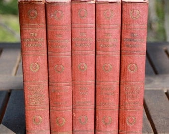 Set of five old books