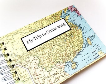 Overseas Adoption Journal with Bible Verse Plus Map of your Choice