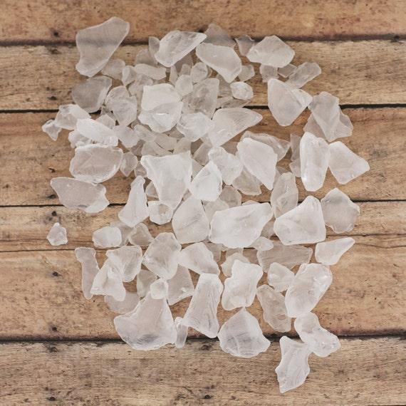Sea Glass White Tumbled-Sea Glass 1 lb Bulk-Man Made White Sea Glass- White Sea Glass-Beach Wedding Decor- White Sea Glass Bulk-Craft Supply