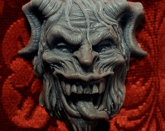 Krampus Holiday Vegan Shea Butter Soap w/ activated Charcoal by Cig Neutron (Black or Wine Colored)