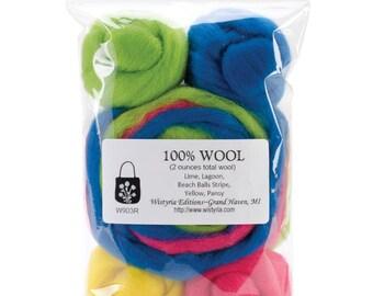 WISTYRIA EDITIONS-Wool Roving Beach Ball Stripe