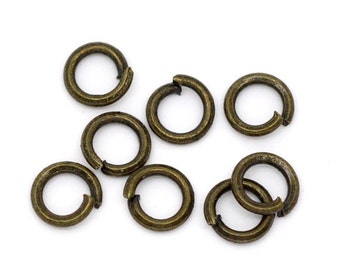 1000 WHOLESALE Jump Rings - 4mm - Bronze Tone - Open -  (20 Gauge) - Ships IMMEDIATELY from California - F255a