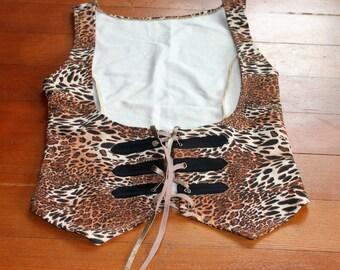 Stretchy Comfortable Leopard Print Waist Vest