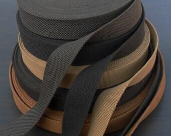 """Heavy canvas Cotton Webbing Belt strap tape width 35 mm ( 1-3/8 """")  x  5, yards,"""