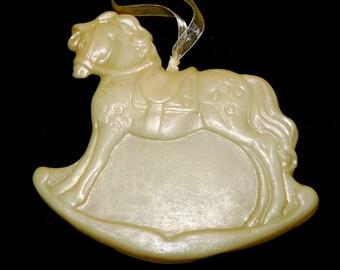 Handmade Artisinal Beeswax Ornament / Wall Art - ROCKING HORSE