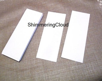 Bookmarks, Paper cuts, Gift tags, blank, paper, white, rigid, hang tags, rectangle, gift labels, diy, scrapbooking, white,