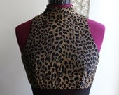 SALE 1990s Leopard Mesh Waist Maxi Dress