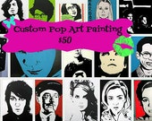 Custom Pop Art Painting on Canvas (ready to hang)