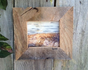 ACRYLIC PAINTINGS, eco friendly, REVERSE painting, acrylic paints, picture, recycled pallets, stained glass, fused glass