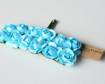 3 flowers Branchs 36 Flowers colors Blue Cyann Flowers