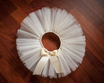 "Ivory ""Claire"" tutu kids tutu sizes 2, 3, 4, photo prop wedding flower girl birthday tutu 2T 3T 4T toddler tutu skirt cream tutu beige tutu"