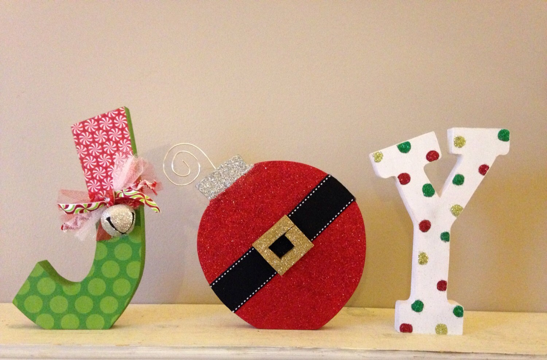Joy Letter Set Christmas Decoration Holiday Decor Mantle Shelf
