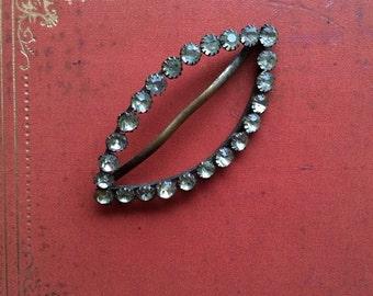 Genuine Edwardian Belt Slide Bridal Hair Ornament Jewelry Accessories / ENGLISH GARDENS