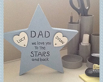 Personalised Dad star Father's Day gift
