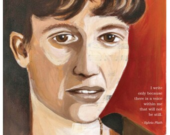 Sylvia Plath 8 x 10 PRINT
