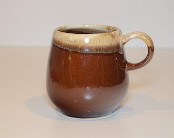 Vintage 1960s MCCOY 7025 Brown Drip Lava Glaze Coffee Mug, Tea Mug, Coffee Cup, Tea Cup - Replace Your Broken Mug For Your McCoy Coffee Set