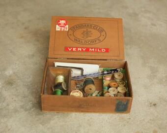 Vintage Wooden Cigar Boxes, Sewing Boxes, Old Wood Box, Cigar, Men, Vintage, Primitive, Home Decor