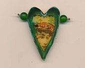 Beautiful polymer clay pendant made by the acclaimed Barcelona artist Montse