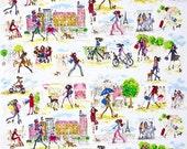 Robert Kaufman - Who's That Girl 3 - Sidewalk Fashion - Multi - Novelty Fabric