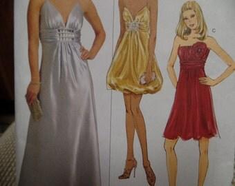Butterick Misses Evening Gown Sz 8-14 Uncut