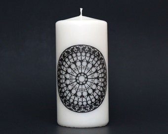 Cathedral Candle - Church- Mandala - Pillar Candle