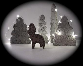 Concrete Christmas Tree   industrial alternative christmas trees   holiday decoration  seasonal tree
