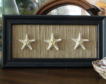 Coastal decor starfish wall hanging plaque
