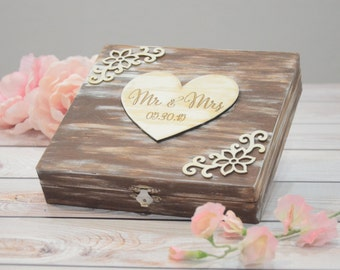 Personalized wooden advice box- advice for the bride and groom - custom your colors!