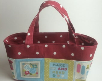 Instant download Craft Caddy tutorial PDF sewing instructions