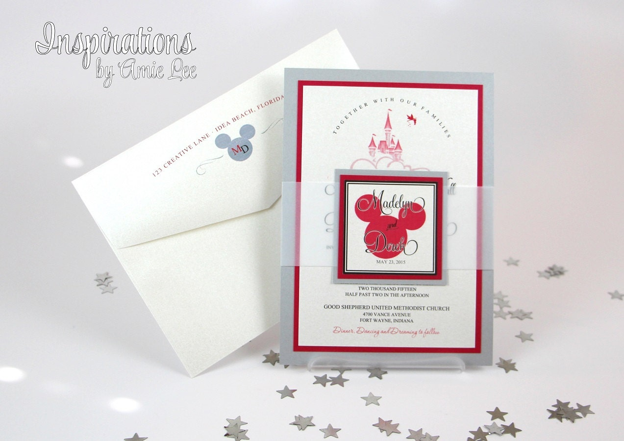 Wedding Invitations Disney: Disney Wedding Invitations Fairy Tale Wedding Wedding