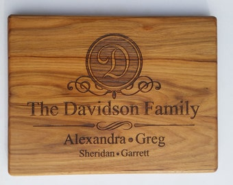 PERSONALIZED CUTTING BOARD / Establishment Monogram cutting board Carved