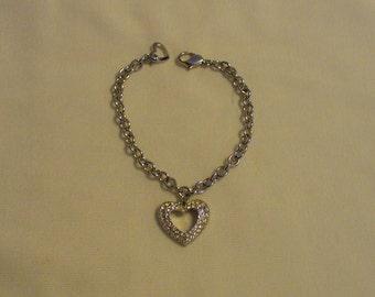 Swarovski Pave Heart Braceet