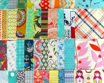 """Scrappy Charm Pack: 42 x 5"""" squares"""